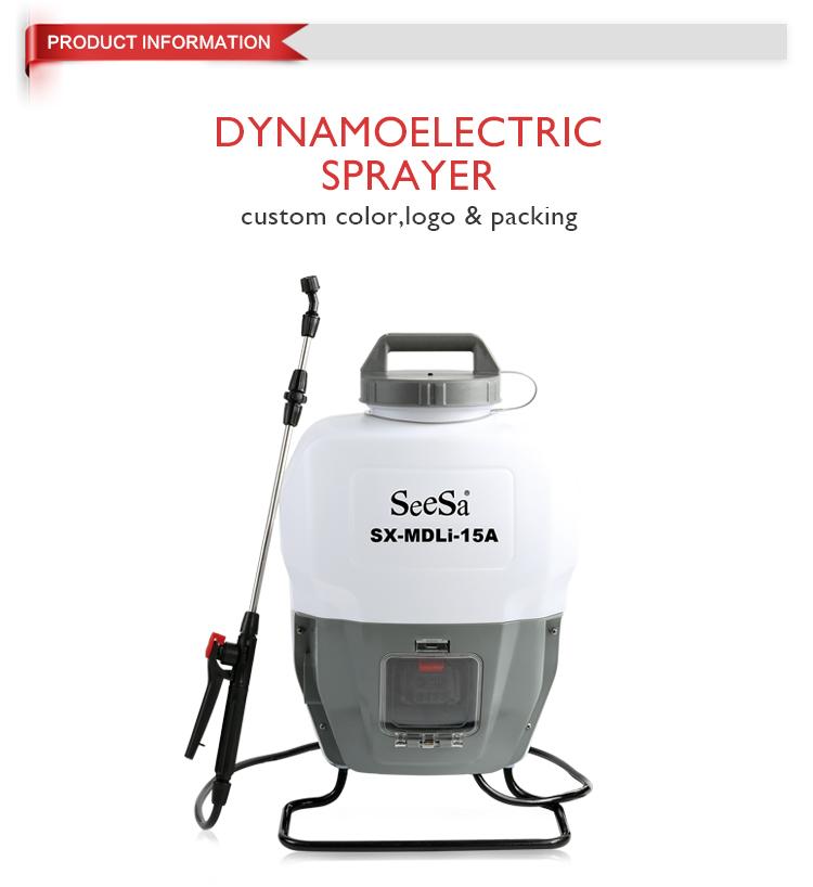 dynamoelectric sprayer